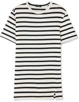 Bassike Striped Cotton-jersey T-shirt - Black