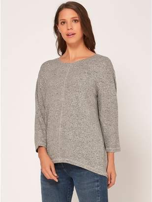 M&Co Curved hem top