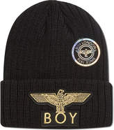 Boy London Boy Eagle Applique Beanie Hat