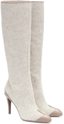 Max Mara Beck canvas knee-high boots
