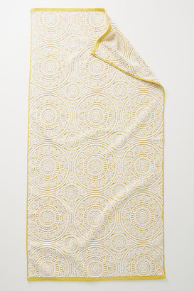 Anthropologie Medala Towel Collection By in Yellow Size BATH TOWEL