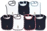 Ralph Lauren Set Of 7 Doubled Cotton Jersey Bibs