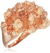 Niza Huang Under Earth Rose Gold Plated Sterling Silver with Quartz Cocktail Ring - Size Medium