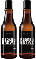 Redken Brews Men's 3 in 1 Shampoo Duo