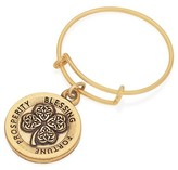 Alex and Ani Four Leaf Clover Expandable Wire Ring