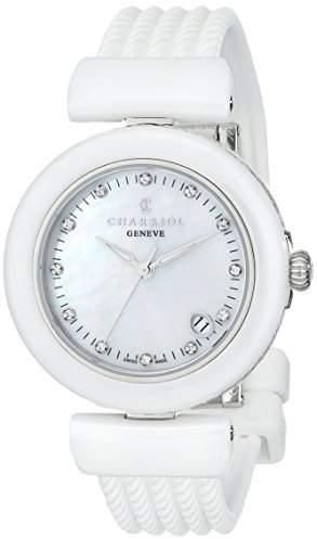 Charriol AEL Ladies White Ceramic Diamond Watch AE33CW.174.003