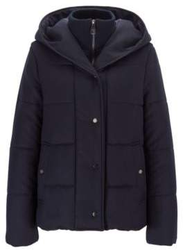 Relaxed-fit padded flannel jacket with zip-through inner