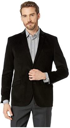 Kenneth Cole Reaction Unlisted Corduroy Sportcoat (Black) Men's Jacket