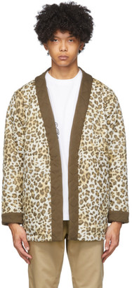 Clot White and Brown Leopard Gui Jacket