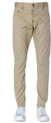 DSQUARED2 Sand Color Cotton Jeans