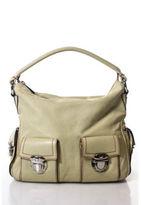 Marc Jacobs Creme Leather Multi-Pocket Red Stitching Shoulder Handbag
