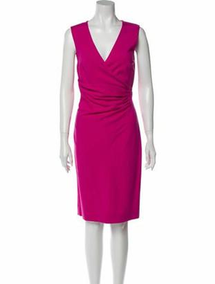 Diane von Furstenberg V-Neck Knee-Length Dress w/ Tags Pink
