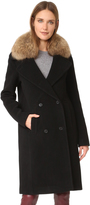 Soia & Kyo Farrah Coat with Fur Trim