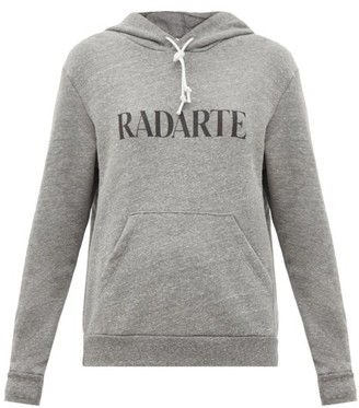 Rodarte Radarte-print Fleeceback-jersey Hooded Sweatshirt - Grey
