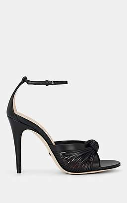 Gucci Women's Crawford Leather Ankle-Strap Sandals - Black