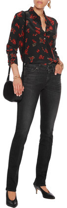 7 For All Mankind Kimmie Mid-Rise Slim-Leg Jeans