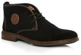 Rieker Black Logo Applique Chukka Boots