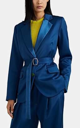 Sies Marjan Women's Terry Wool Twill Belted Blazer - Blue