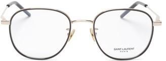 Saint Laurent Round Metal Glasses - Clear