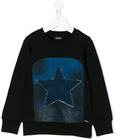 Diesel denim star patch sweatshirt