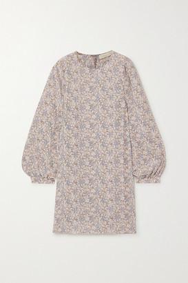Vanessa Bruno Nell Floral-print Silk Crepe De Chine Mini Dress