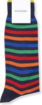 Duchamp Stripe-print cotton-blend socks