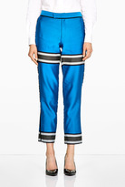 Sea Silk Engineered Striped Slim Fit Trousers