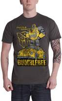 Transformers T Shirt Bumblebee Distressed new Official Mens Grey