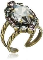 Sorrelli Women's Washed Waterfront Adorned Navette Cluster Ring, Color: ,-9