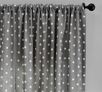 Pottery Barn Caci Dot Linen/Cotton Rod Pocket Curtain