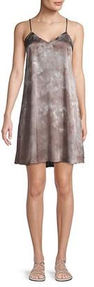 ATM Anthony Thomas Melillo Tie-Dyed Silk Mini Slip Dress