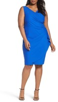 Alex Evenings Plus Size Women's Embellished Surplice Sheath Dress