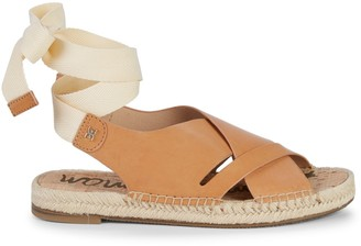 Sam Edelman Alisha Leather Self-Tie Espadrilles