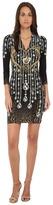 Just Cavalli Bodycon Printed Knit Dress