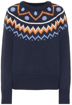Tory Sport Fair Isle wool-blend sweater