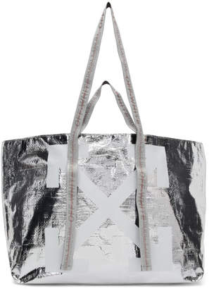 Off-White Off White Silver New Commercial Tote