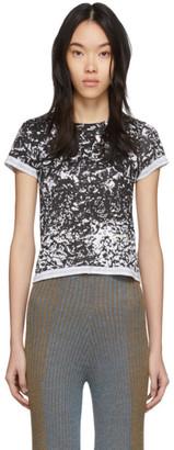 Eckhaus Latta Black and White Lapped Baby T-Shirt