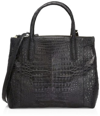 Nancy Gonzalez Large Nix Crocodile Top Handle Bag