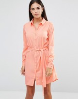 AX Paris Tie Waist Shirt Dress
