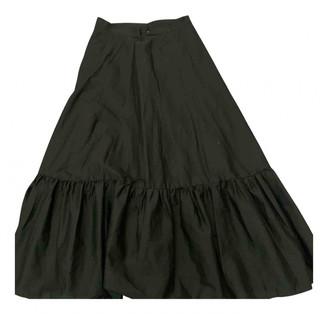 Vicolo Black Cotton Skirts