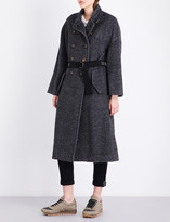 Brunello Cucinelli Waist-belt woven coat