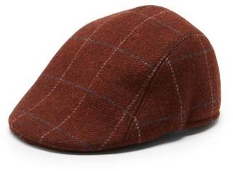 Paul Smith Checked Wool Flat Cap - Dark Red