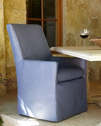 Lane Venture Blue Bennett Outdoor Dining Armchair