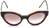 Cat Eye Cutler and Gross Cat-eye leather-trim sunglasses