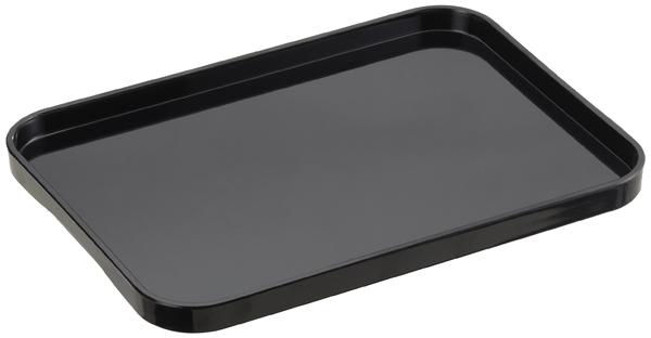 Container Store Medium Melamine Tray Black