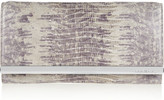 MICHAEL Michael Kors Tilda lizard-effect leather clutch