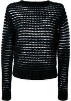 DKNY open knit jumper - women - Cotton - S