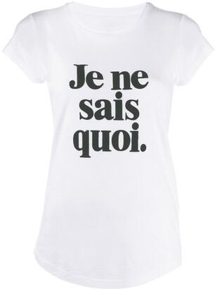 Zadig & Voltaire Zadig&Voltaire slogan print T-shirt