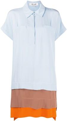 Dvf Diane Von Furstenberg Panelled Shirt Dress