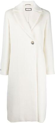 Peserico Single-Breasted Wool Coat
